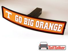 Tennessee Vols Go Big Orange Trailer Hitch Cover Illuminated NCAA Officially Licensed by tailtalker on Etsy