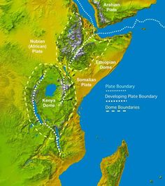 The Great Rift Valley in Ethiopia, Kenya, and Tanzania