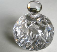 RARE ESTATE VINTAGE WATERFORD? CRYSTAL PAPERWEIGHT HEAVY