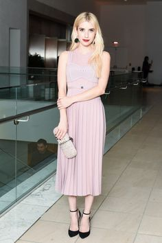 Art and Entertainment Worlds Meet at the Hammer Museum Gala Photos | W Magazine; Emma Roberts, wearing Bottega Veneta. wmag.com