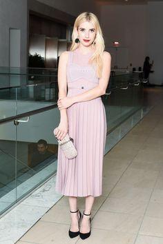 Art and Entertainment Worlds Meet at the Hammer Museum Gala Photos | W Magazine; Emma Roberts, wearing Bottega Veneta. wmag.com