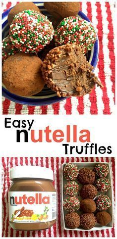 Nutella Truffles with all the yummy hazlenut flavour of Nutella - and only . Easy Nutella Truffles with all the yummy hazlenut flavour of Nutella - and only . , Easy Nutella Truffles with all the yummy hazlenut flavour of Nutella - and only . Xmas Food, Christmas Cooking, Christmas Desserts, Christmas Treats, Christmas Truffles, Christmas Recipes, Chrismas Food Ideas, Easy Christmas Cake, Homemade Christmas Gifts Food