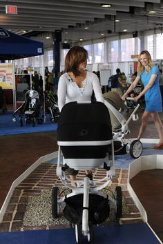 Find out what stroller is best for your family by trying them out on the Original Stroller Test Track! #babyshow2013 #stroller