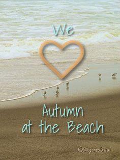 We LOVE Autumn at the Beach!