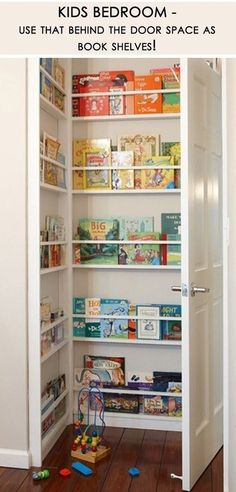 Use Your 'Behind The Door Space' As Bookshelves!