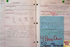 Runde's Room:  Math Journal Sundays - Division