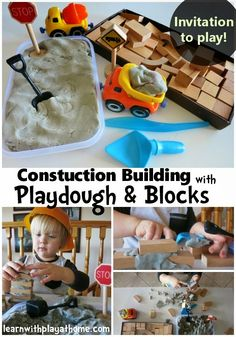 Bricklaying for Kids. Invitation to Play. from Learn with Play at Home