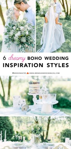 Click to see 6 Dreamy Boho Wedding Inspiration Styles - which boho wedding ideas are your favorite? It's all on www.brendasweddingblog.com