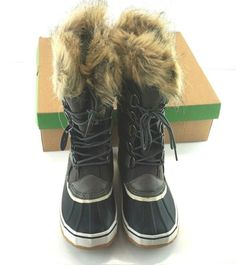 67477a9b3d508 Details about Yuu Fiona Women s Dark Brown Cold Weather Mid-Calf Boots  SIZES 6   7 NEW