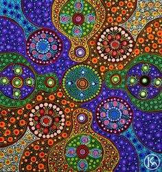 Untitled by Marie Hayes from Ltyentye Apurte, Central Australia created a 34 x 35 cm Acrylic on Belgian Linen painting SOLD at the Aboriginal Art Store Aboriginal Dot Painting, Aboriginal Artists, Dot Art Painting, Mandala Painting, Abstract Art, Aboriginal Dreamtime, Encaustic Painting, Indigenous Australian Art, Indigenous Art