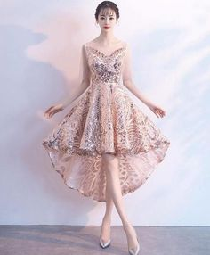 Description champagne tulle lace applique short prom dress, homecoming dress, Pictures of this product are pictures of the real object. Cheap Prom Dresses Online, Prom Dresses Under 100, Lace Homecoming Dresses, Unique Prom Dresses, Beautiful Prom Dresses, Grad Dresses, High Low Evening Dresses, Grey Evening Dresses, Designer Evening Dresses