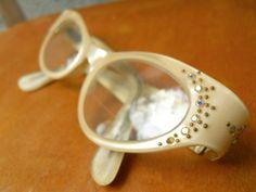 cats-eye glasses