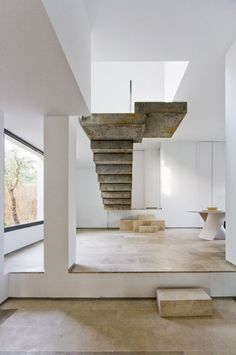 Architectural Focal Point: The steps are cement and mounted which is clearly an attraction. Not exactly kid friendly but the steps have focal point written all over it. An attention grabber as soon as you enter.