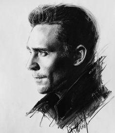 Mr Hiddleston. Artwork by nicana_micael