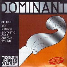 Thomastik-Infeld Cello Dominant D - Chrome Wound 4/4 Size Mittel, 143-4/4M by Thomastik-Infeld. $42.40. Strings and Music Accessories by Juststrings.com