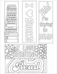 Check out our coloring bookmarks on our writing worksheets