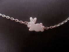 Silver Rabbit Necklace  Bunny Necklace  by FashionCrashJewelry