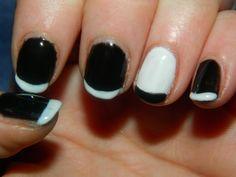Black & white french manicure