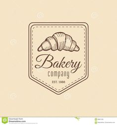 Croissant Logo. Vintage Bakery Icon.Retro Emblem Of Sweet Cookie.Hipster Pastry Label.Biscuit Sign. Desert Illustration. Stock Vector - Image: 89821236
