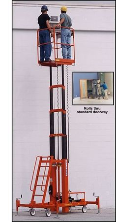 Ballymore MRO Telescoping Hydraulic Maintenance Lifts with roomy x platform accommodates two workers.