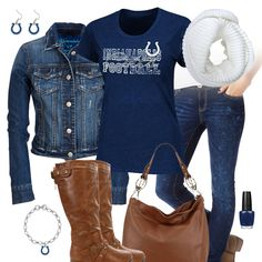 Indianapolis Colts Jean Jacket Outfit