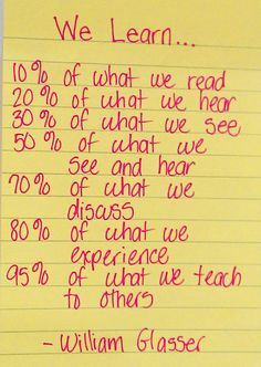 What we really learn.