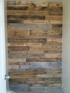The pallet in one of the bathrooms