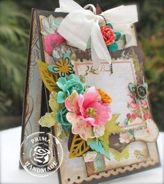 **MUST TRY PROJECT** HI EVERYONE!! Ta-hee .... OK.. SUPER EXCITED!!!  I created a super cute little Tag Book Mini Album to hold some of your favorite INSPIRATIONAL Tags!! And I'm doing a class this next Thursday on Live With Prima (UStream Prima Marketing Inc)! Your going to love it!!   http://withagrin.blogspot.com/2013/07/lwp-tag-holder-class-july-25th-come.html