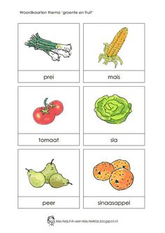 f rite word. Vegetable Crafts, Learn Dutch, Dutch Language, Math Intervention, Preschool Activities, Crafts For Kids, Vegetables, Spelling, Classroom