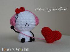 49 ideas for crochet heart free pattern amigurumi ravelry Crochet Patterns Amigurumi, Amigurumi Doll, Crochet Dolls, Crochet Basics, Heart Patterns, Cute Crochet, Baby Blanket Crochet, Crochet Projects, Free Pattern
