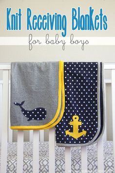 DIY Knit Receiving Blanket for Baby Boys --- Make It and Love It