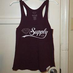 Burgundy Diamond Supply Co. tank Burgundy/Purple Diamond Supply Co. tank top. Diamond Supply Co. Tops Tank Tops
