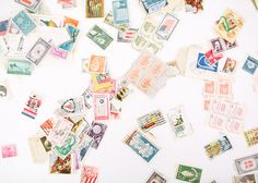 Oh So Beautiful Paper: Envelope Inspiration: Calligraphy and Vintage Stamps