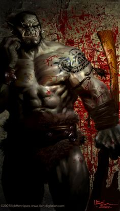 shadowrun; male; ork; muscled