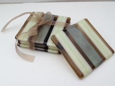 Fused Glass Coasters  Nature's Beauty by SmudgePotz on Etsy, $30.00