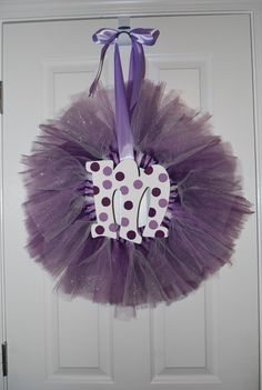 Tulle Wreath. Cute idea if I ever have a little girl!!