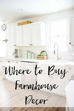 A list of shops of where to buy farmhouse decor items for your home!