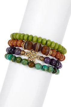 Endless Knot Bracelet Set by mariechavez on @HauteLook