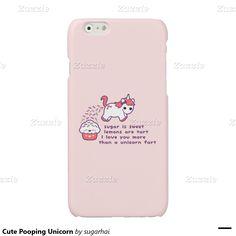 Cute Pooping Unicorn Glossy iPhone 6 Case