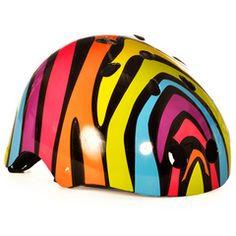 Black Zany Animal Print Helmet