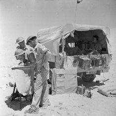 The command post of 83rd and 85th Batteries, 11th Field Regiment, Royal Artillery at El Alamein, July 1942. Pin by Paolo Marzioli