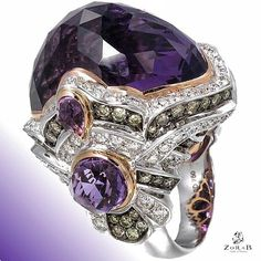 Make a luxurious statement with this #Amethyst Quartz Ring. #Zorab #jewelry…
