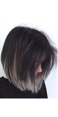 35 Short Ombre Hair Color Ideas for Brunettes That Are Trending for Short Ombre Hair Are you looking for short hair ombre? Then these 35 short ombre hair color ideas for brunettes that are trending for 2019 will be yo. Ombre Hair Color For Brunettes, Blonde Ombre Hair, Hair Color Dark, Gray Color, Ash Ombre, Short Hair With Color, 2 Tone Hair Color, Grey Hair Dark Roots, Short Colorful Hair
