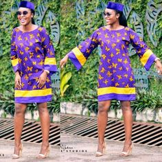 Purple Ankara styles command an aura of majestic splendour and can be worn at anytime; they are easy to dress up as well. Purple a cool colour to behold the Ankara Jumpsuit, Ankara Blouse, Long Ankara Dresses, Sexy Dresses, Ankara Designs, Ankara Styles, African Wear, African Dress, Nigerian Outfits