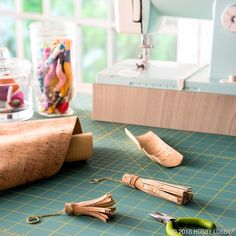 Trend alert! From stylish accessories to home decor furnishings, cork fabric is the customizable blank canvas you've been waiting for!