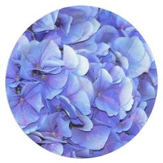 Blue Blooms Floral 9 Inch Paper Plate #partyideas #partysupplies