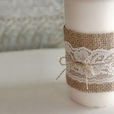 lace string burlap hessian ribbon jar - Google Search