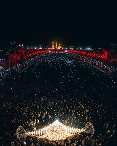 Arrival of holy month of Muharram 1439 Karbala Iraq, Imam Hussain Karbala, Labaik Ya Hussain, Iran, Imam Hussain Wallpapers, Karbala Photography, Imam Reza, Ibn Ali, Islamic Paintings