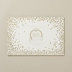 Golden Confetti Placemat Pad // DIY with metallic sharpie and thick paper