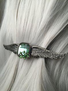 Steampunk Wing Wedding Hair Accessories Wing by ArcanumByAerrowae